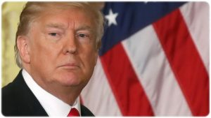 目の周りが白いトランプ大統領