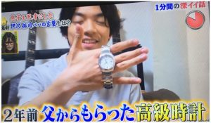 伊沢拓司の腕時計のブランド