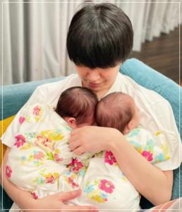 花江夏樹の双子の子供の名前&誕生日